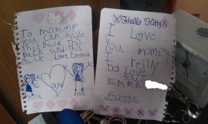 Emmas Note to Mommy 10-16-13